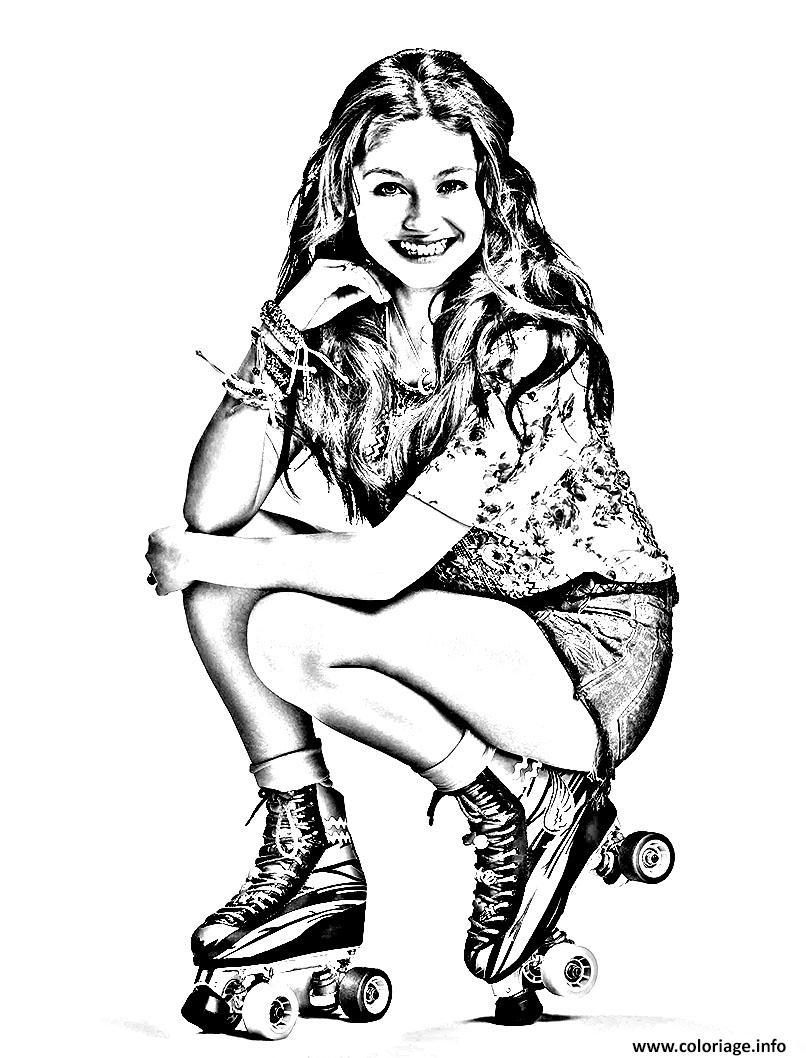 Coloriage Portrait Soy Luna Jecolorie Com