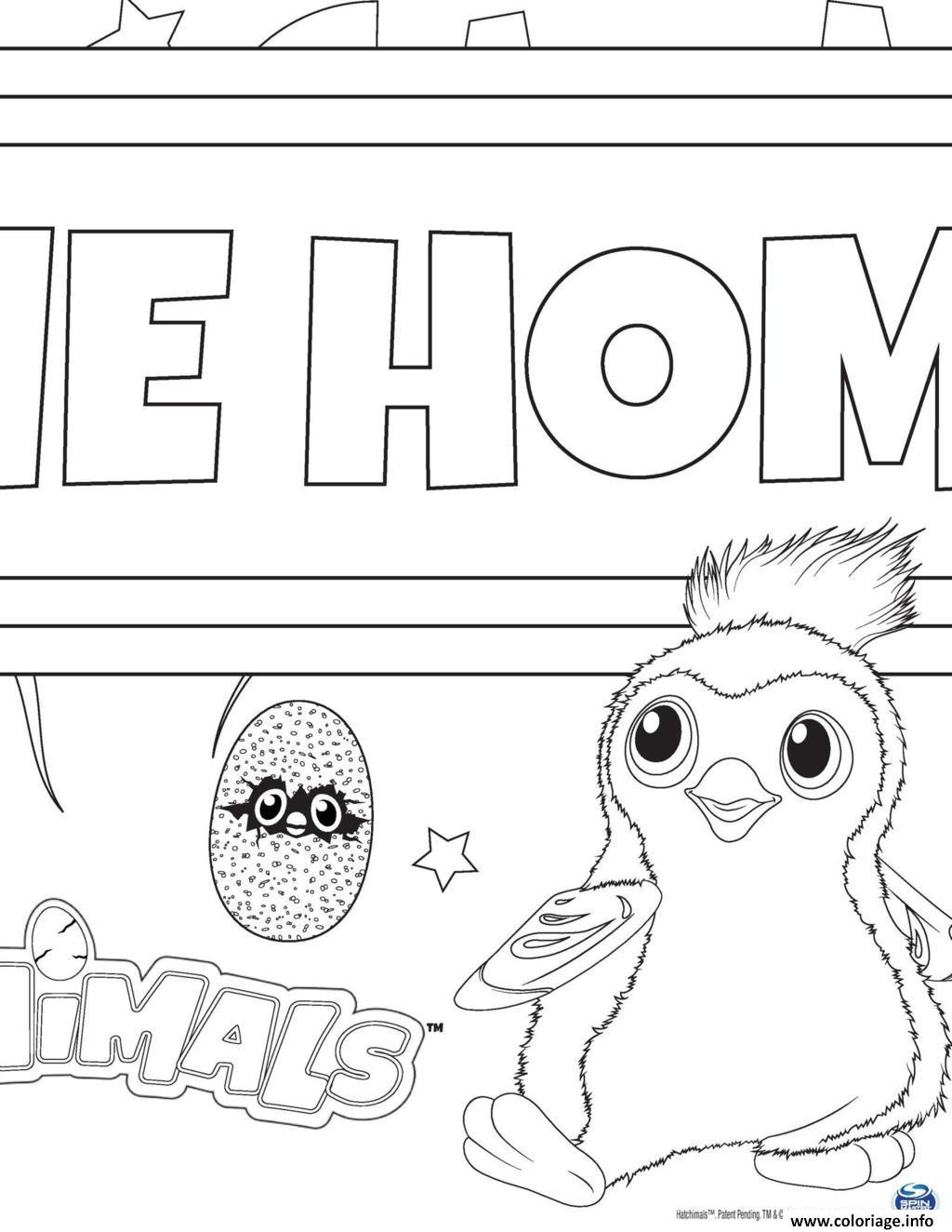 coloriage hatchy hatchimals draggles  jecolorie