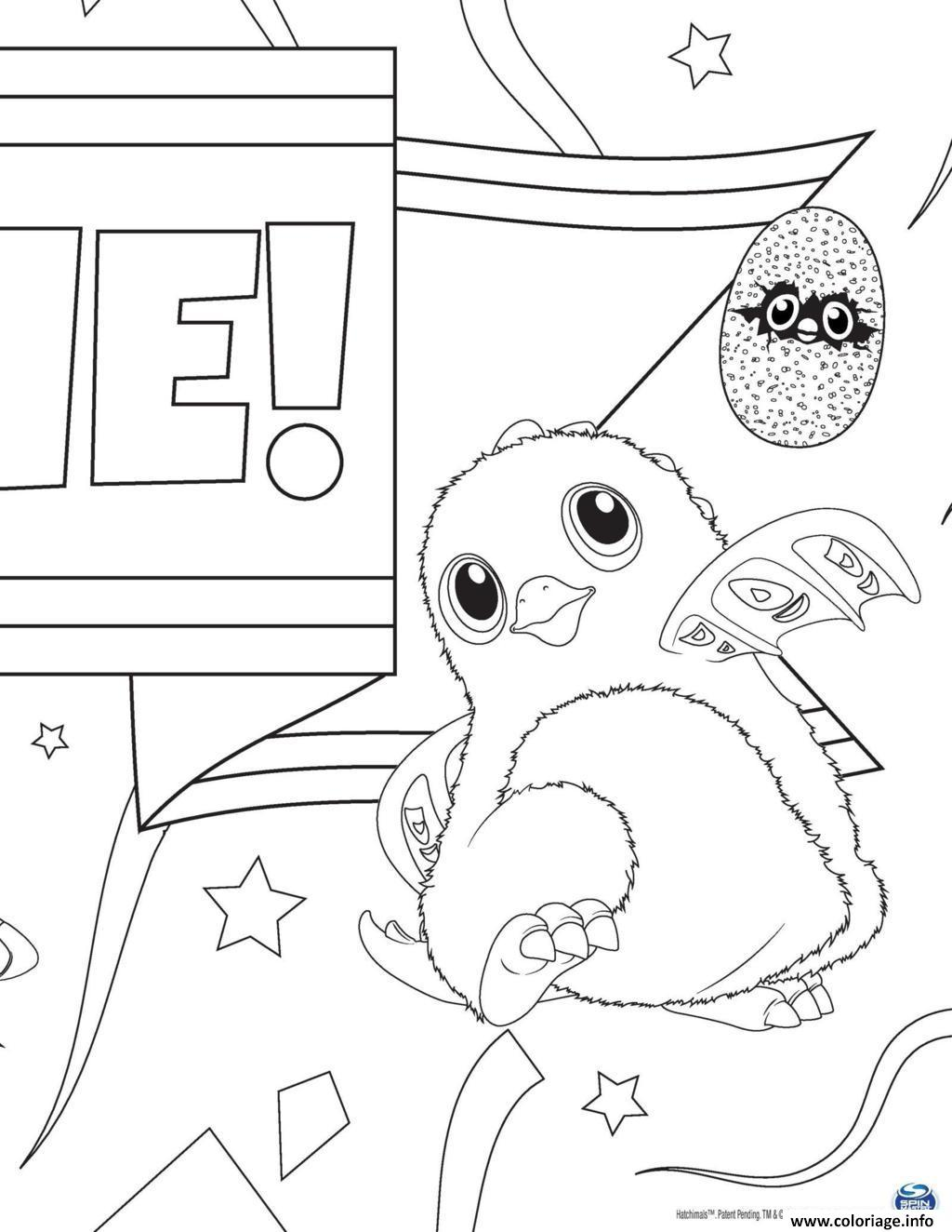 Coloriage Hatchy Hatchimals Francais Dessin
