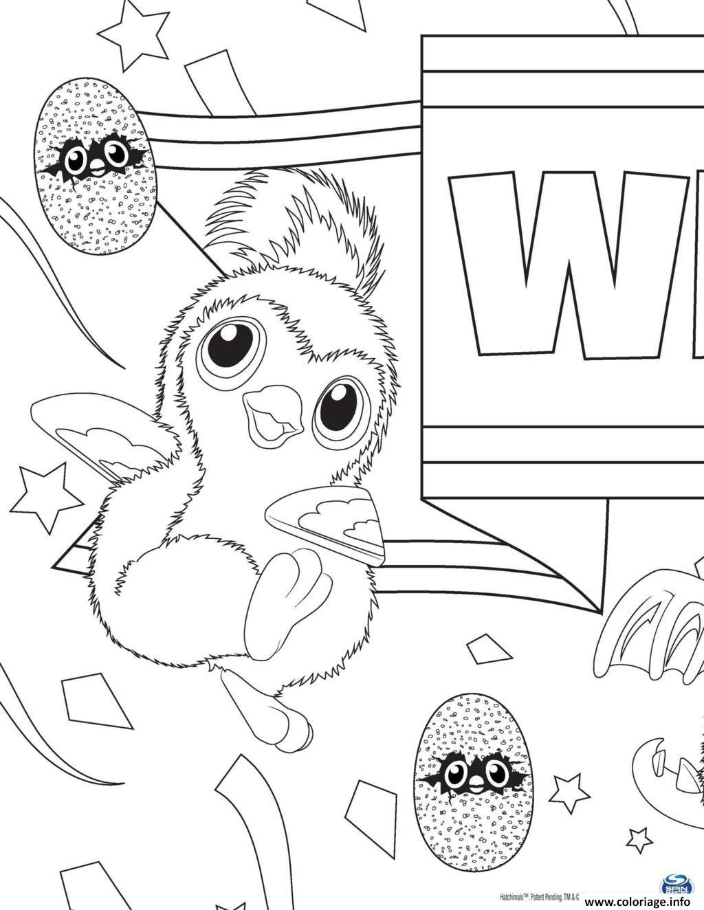 Coloriage Hatchy Hatchimals Penguala Rose Jecolorie Com