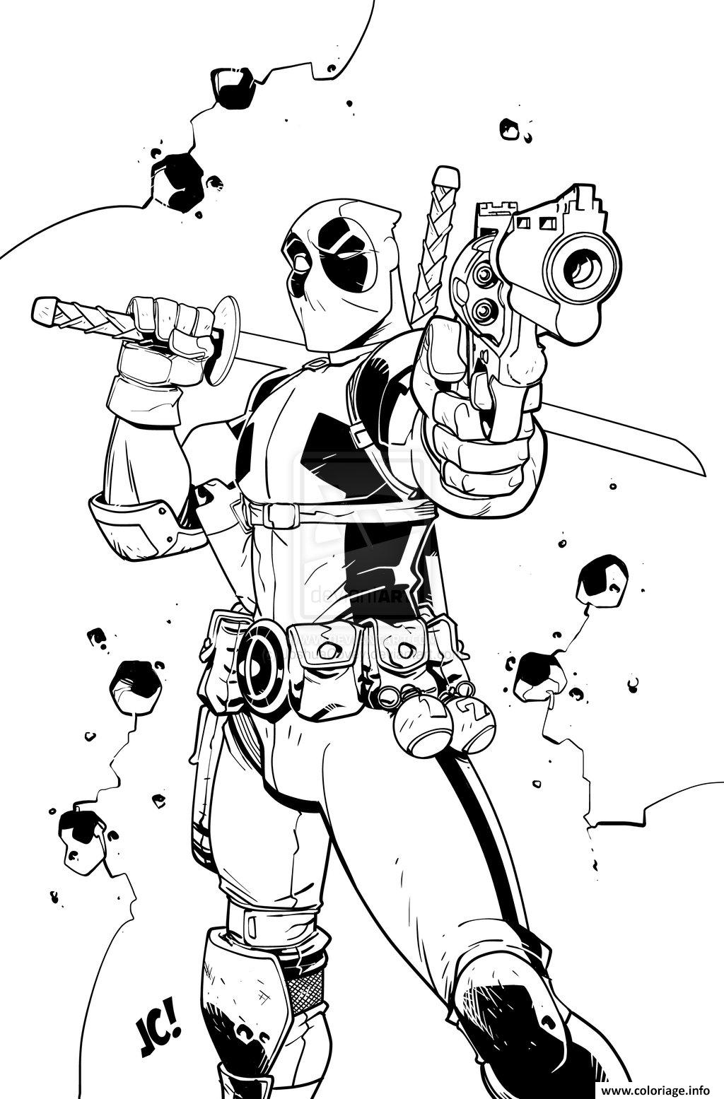Coloriage deadpool 2 january 12 2018 movie dessin - Dessin deadpool ...
