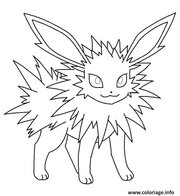 Coloriage Jolteon Eevee Dessin