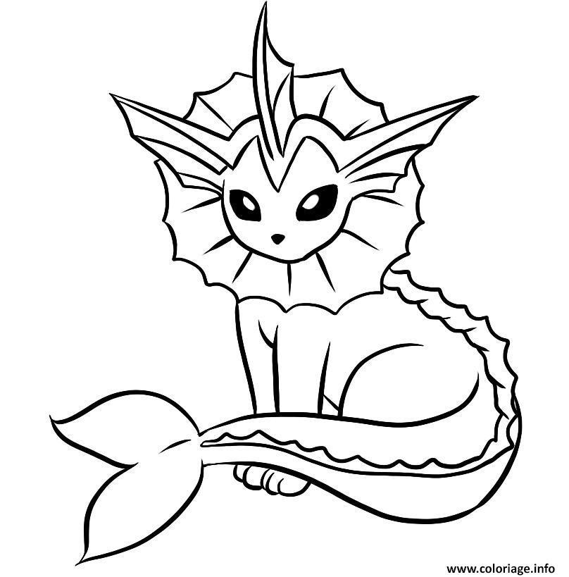 Coloriage Du Pokmon Noctali Lvolution Devoli Coloriage Pokemon
