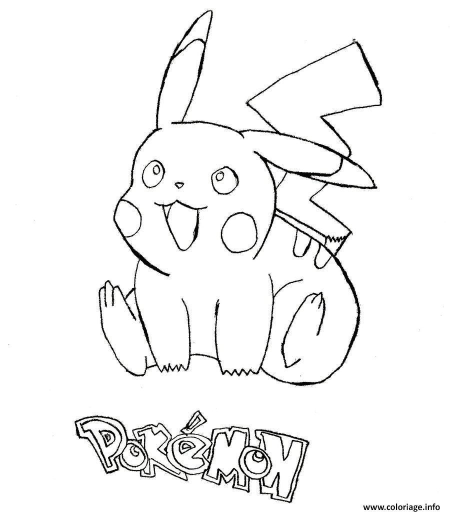 Coloriage pikachu 168 dessin - Coloriage info ...