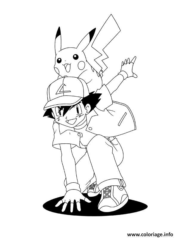 Coloriage Pikachu 244 Dessin