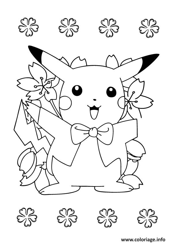 Kleurplaat Verjaardag 18 Coloriage Pikachu 246 Dessin