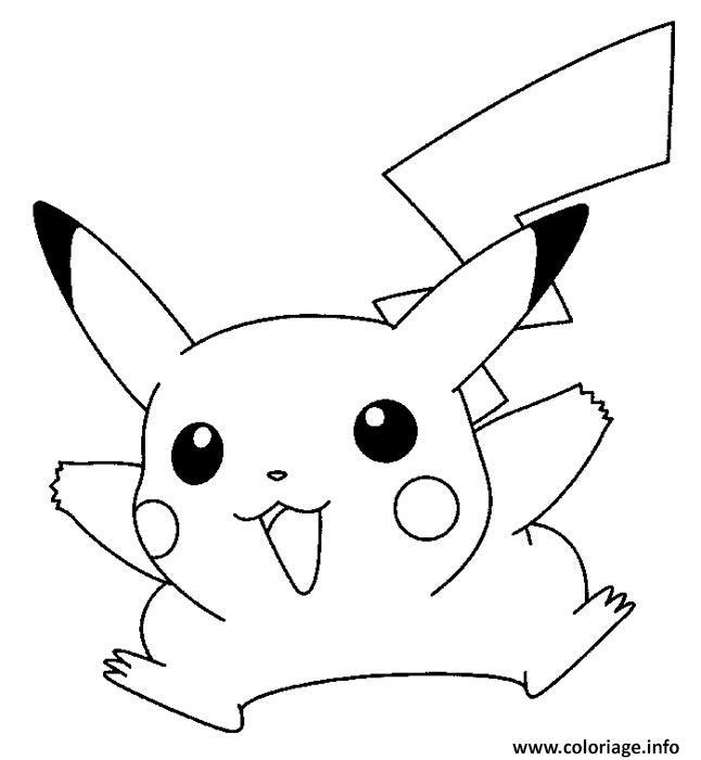 Coloriage pikachu facile 2 dessin - Coloriage de pikachu ...