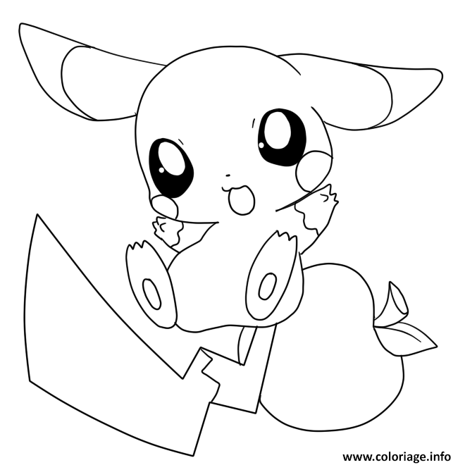 Coloriage Pikachu Mignon 2 Jecoloriecom