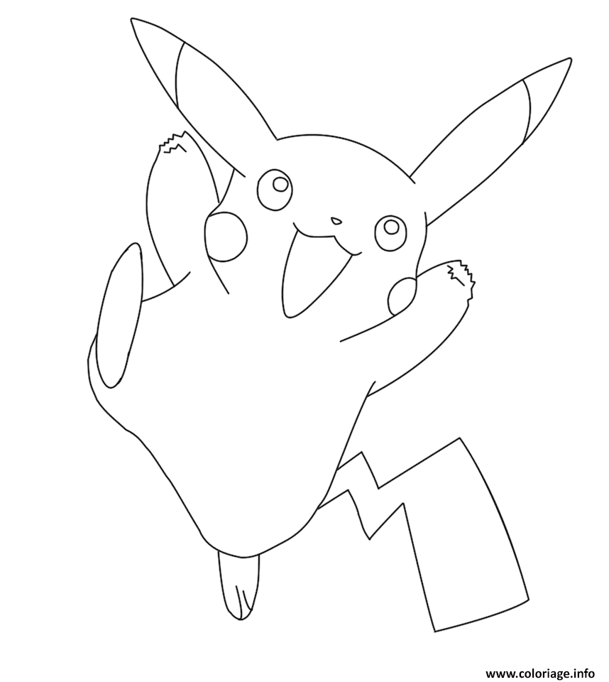 Coloriage pikachu pokemon go - Pikachu dessin ...