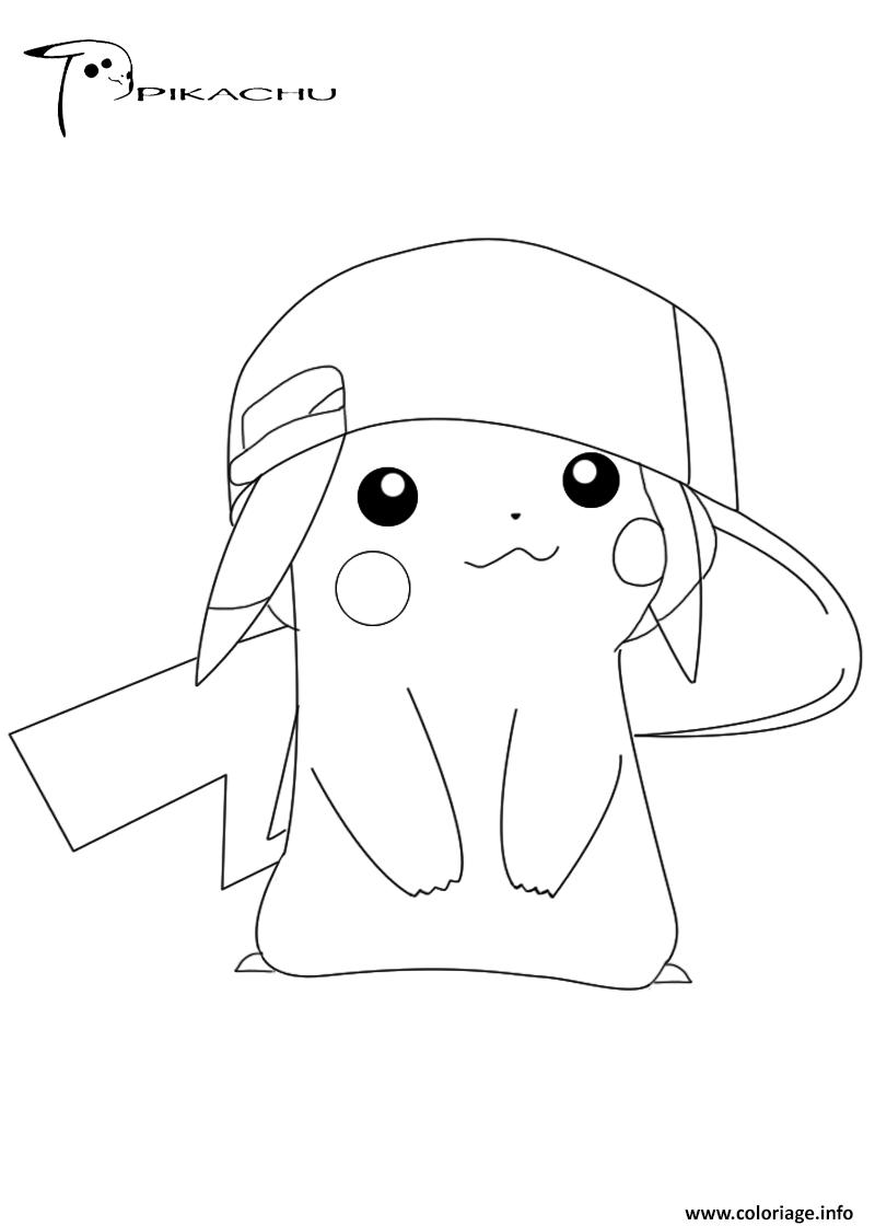 Coloriage Pikachu 18 Dessin