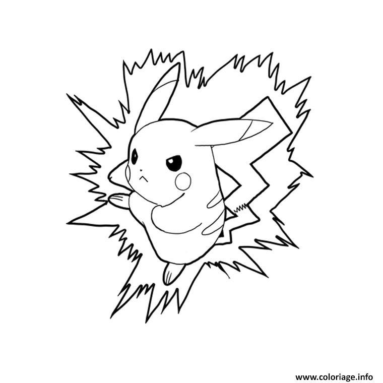 Coloriage pikachu 2 - JeColorie.com