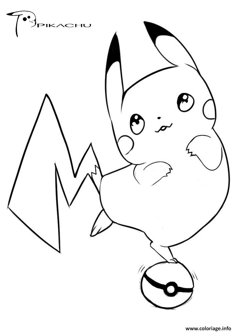 Coloriage pikachu 124 JeColorie