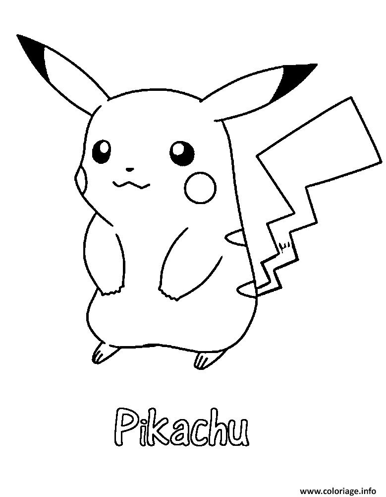 Coloriage pikachu 31 dessin - Coloriage de pikachu ...