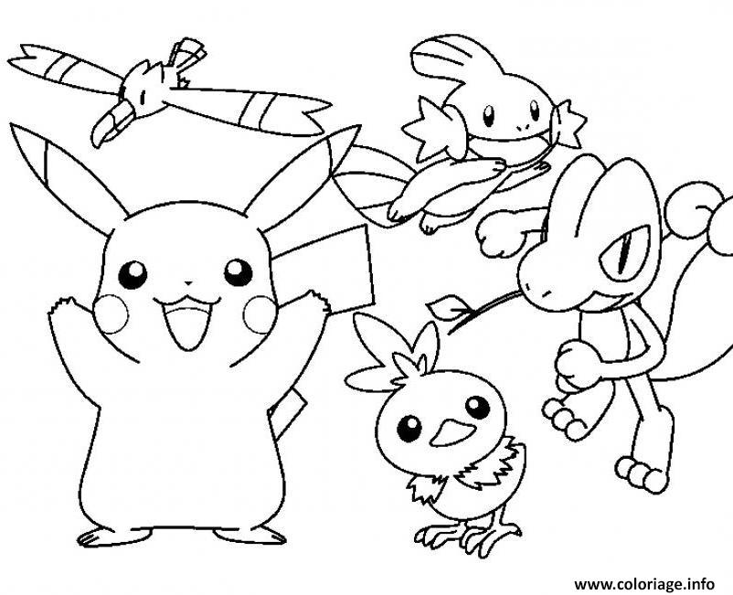 Coloriage Pokemon Cartoon Pikachu Sdd34 dessin