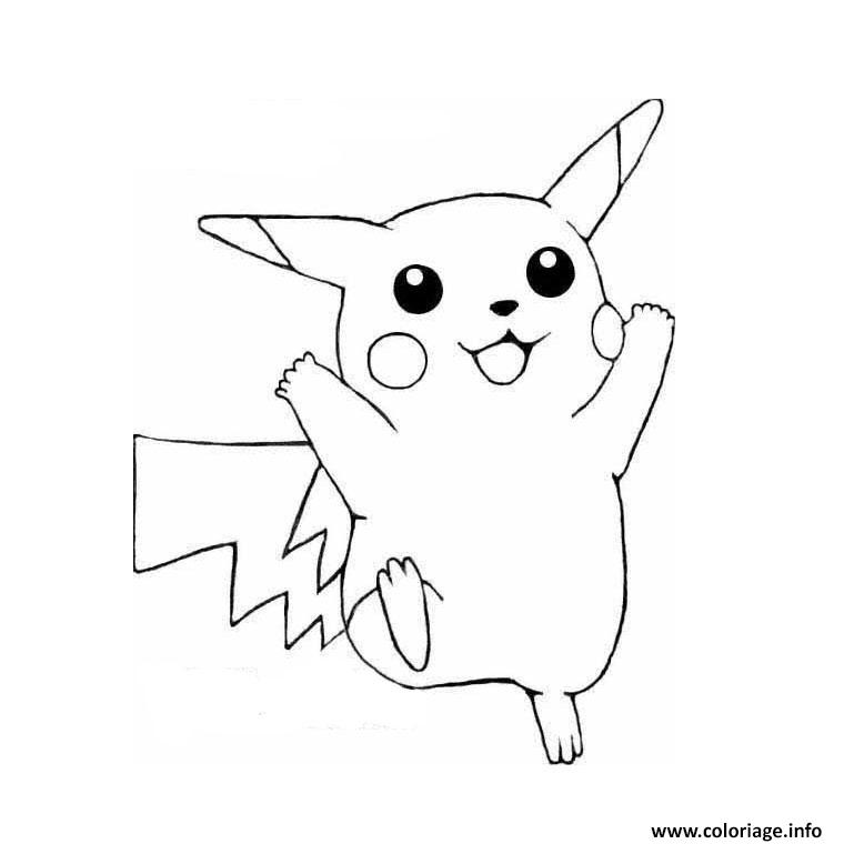 Coloriage Pokemon Pikachu Dessin