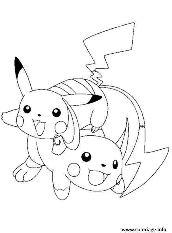 Dessin pikachu 163 Coloriage Gratuit à Imprimer