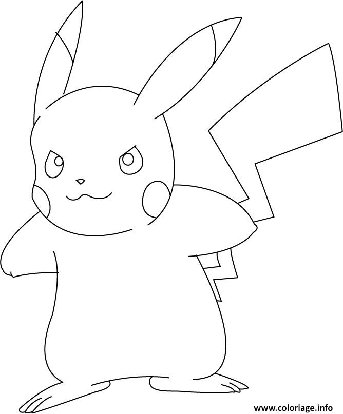 Coloriage pikachu 34 dessin - Pikachu coloriage ...