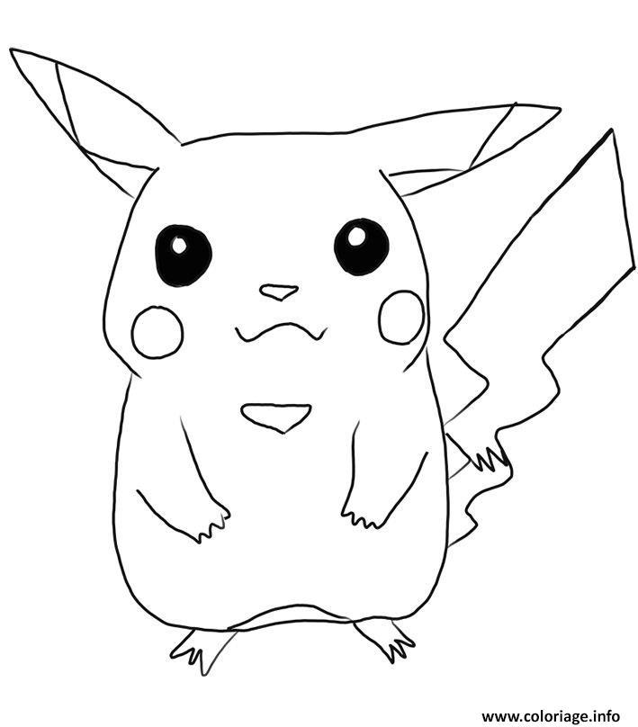 Coloriage pikachu 83 - Dessin pikachu mignon ...