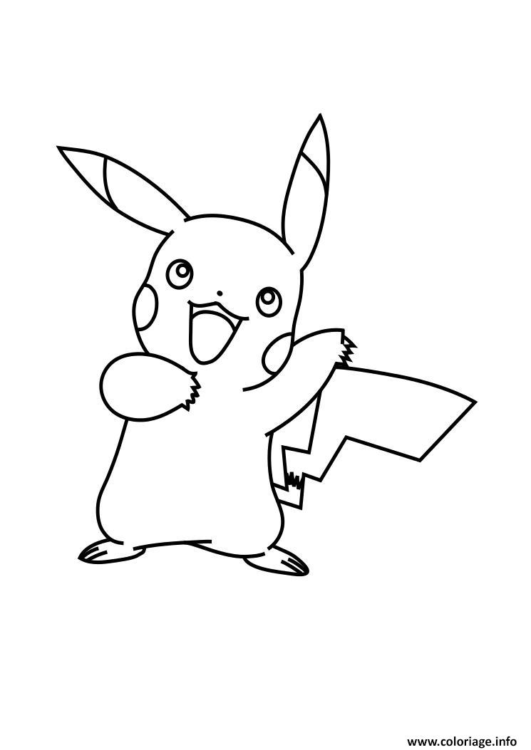 Coloriage pikachu pokemon xy dessin - Pikachu a imprimer ...