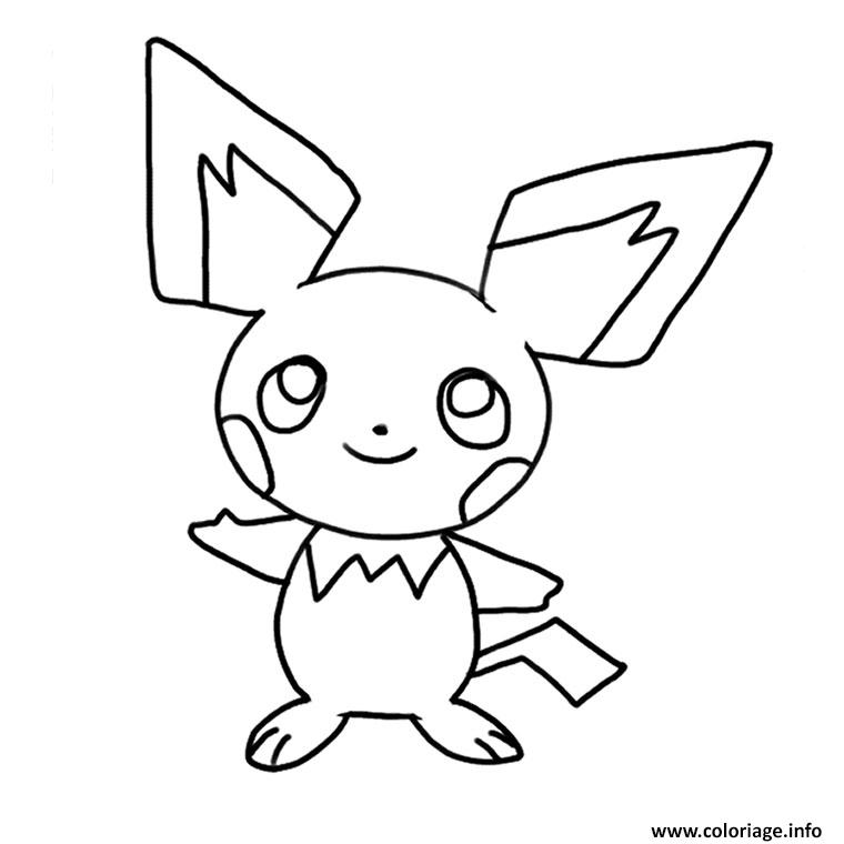 coloriage pikachu mignon 2 dessin. Black Bedroom Furniture Sets. Home Design Ideas