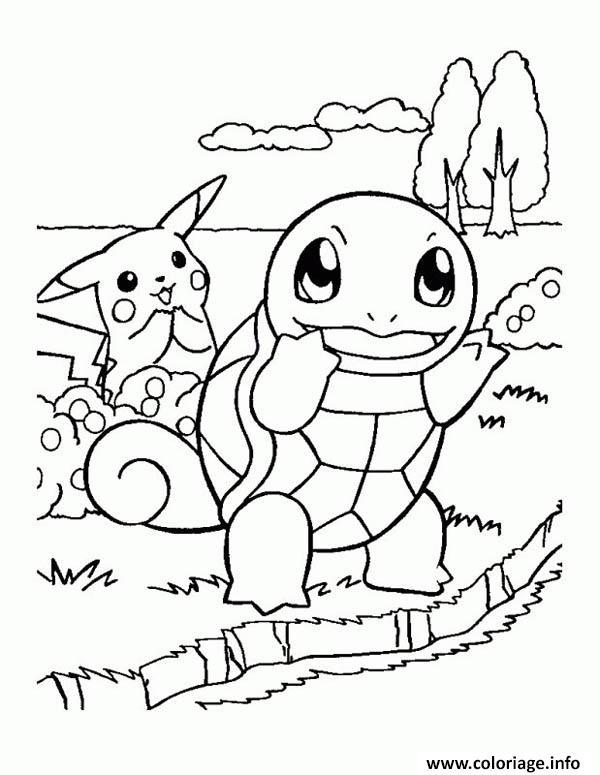 Coloriage pikachu 173 - JeColorie.com