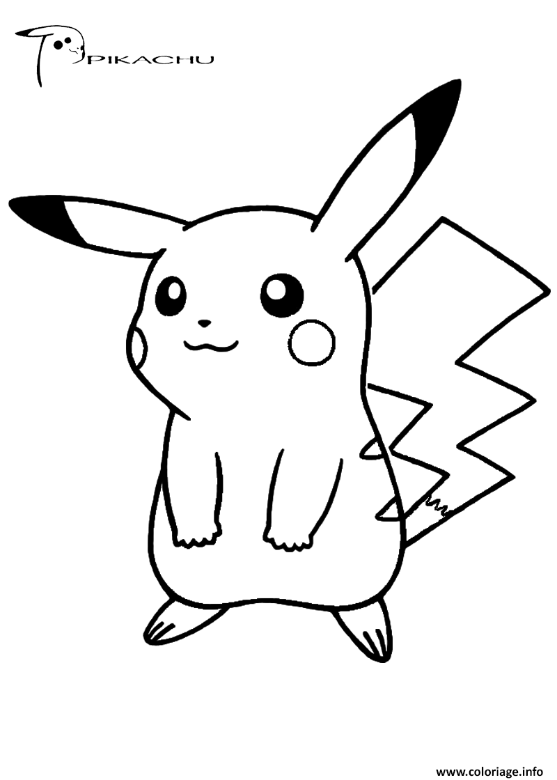 Coloriage Pikachu 289 Dessin Pikachu à imprimer