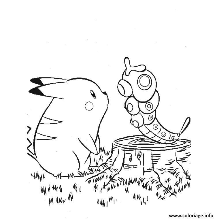 Dessin pikachu 300 Coloriage Gratuit à Imprimer