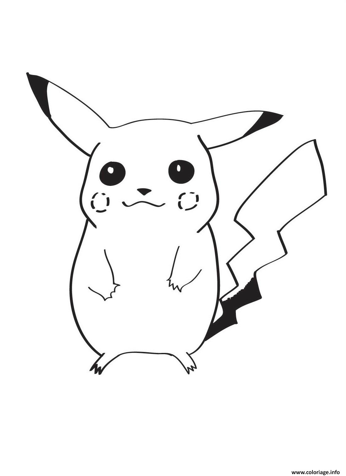 Coloriage pikachu dessin - Dessiner pokemon ...