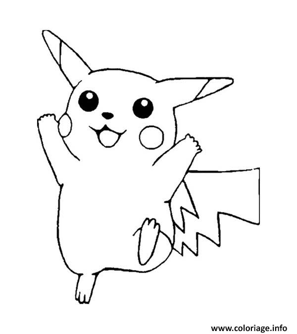 picachu coloring pages - coloriage pikachu 91