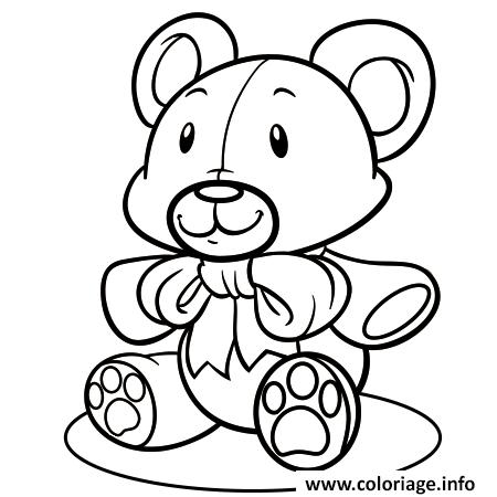 Coloriage facile ours en peluche - Dessin ours facile ...
