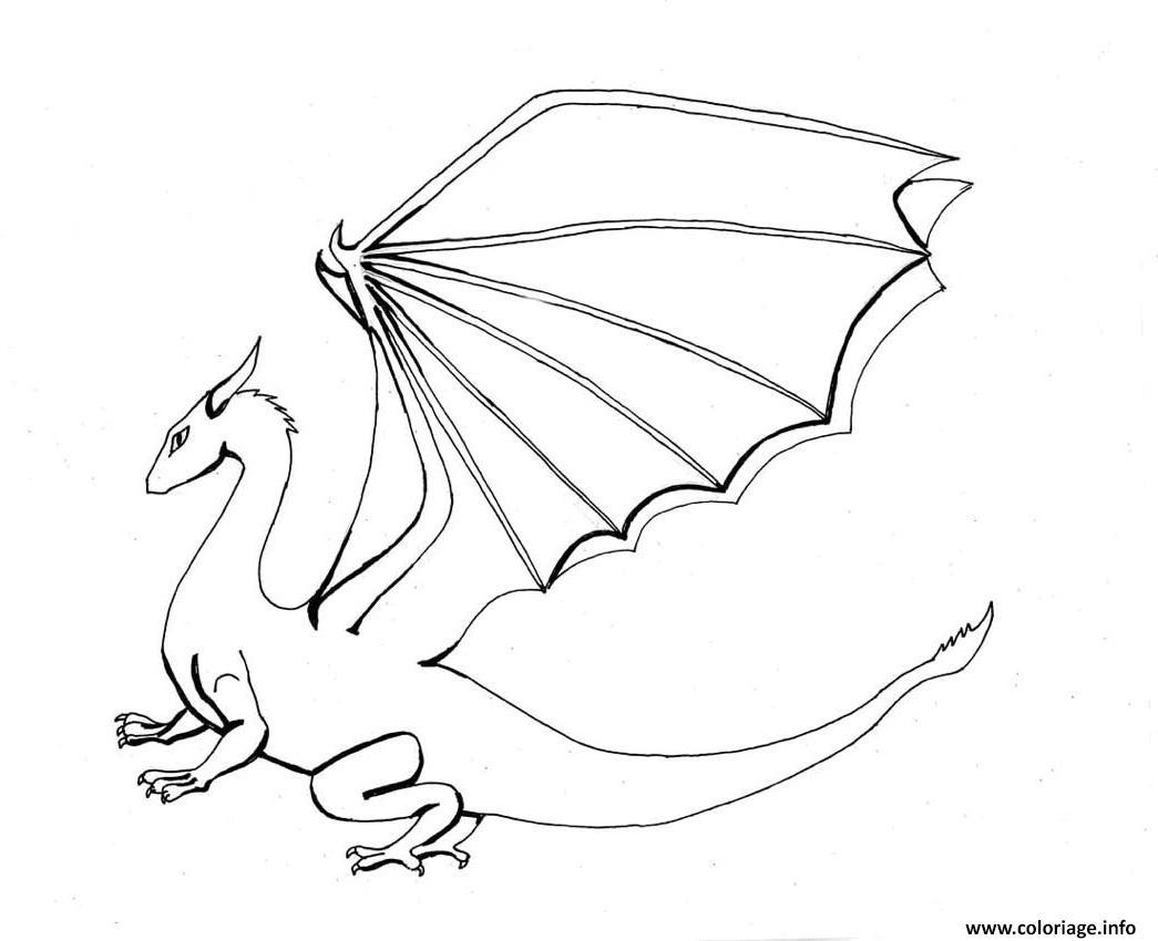 Coloriage Dragon Facile 120 Dessin Facile A Imprimer
