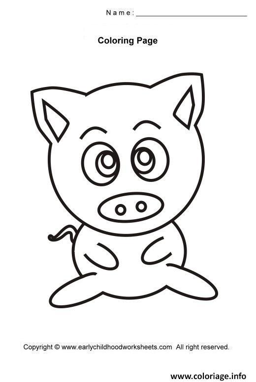 Coloriage Cochon Mignon Facile 11 Dessin