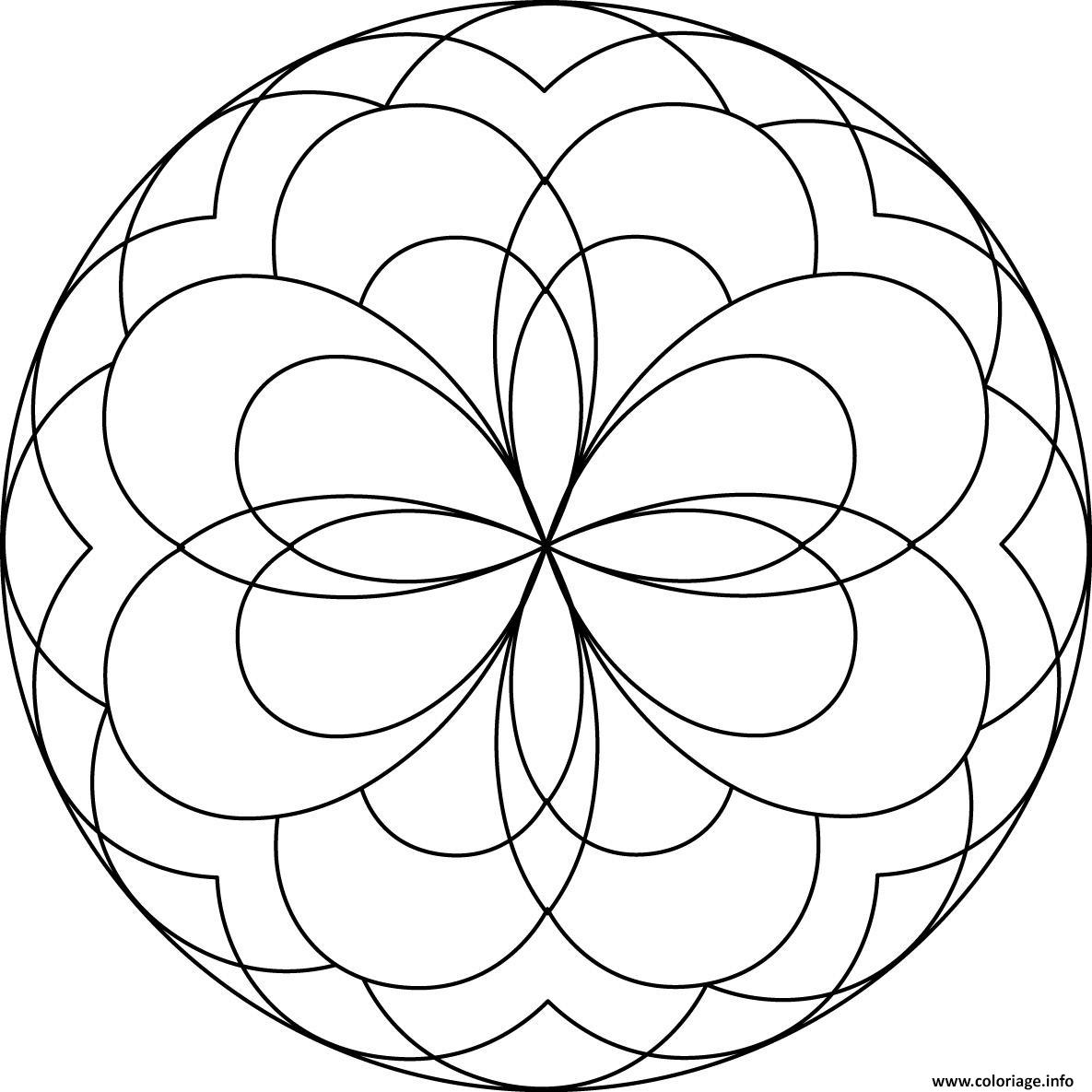 Coloriage Mandala Facile A Imprimer.Coloriage Mandala Facile 60 Dessin