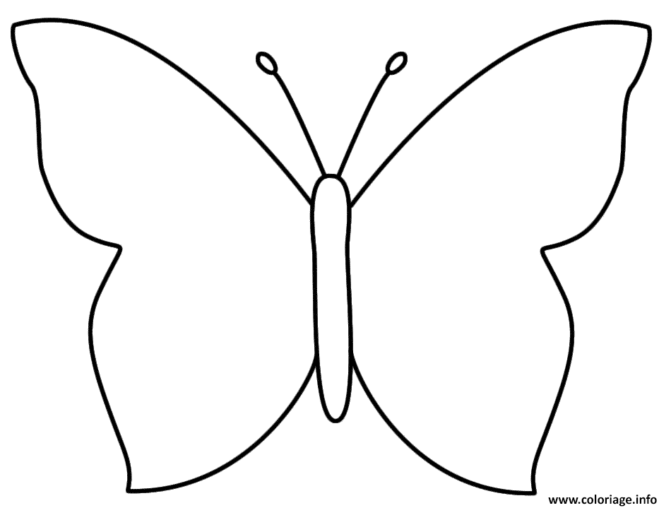 Coloriage Papillon Facile 106 Dessin