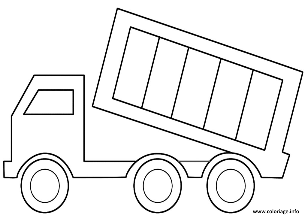 Coloriage Camion Coloriage Facile Camion 64 WD2eHIEYb9