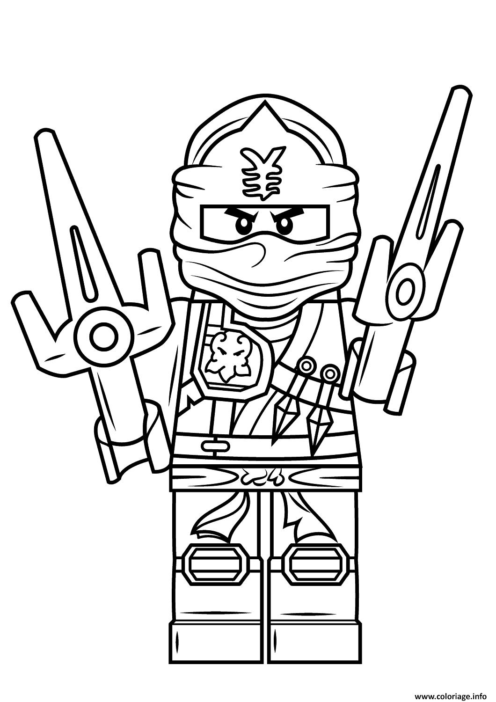 Dessin lego ninjago jay Coloriage Gratuit à Imprimer