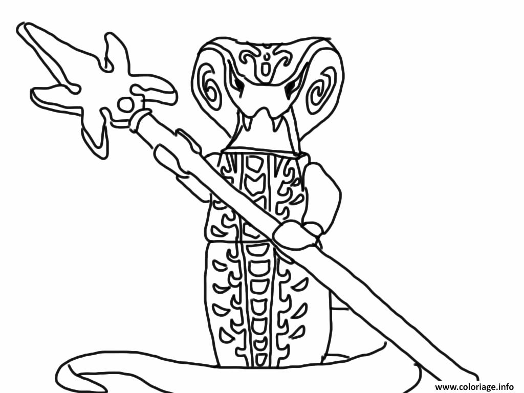 Dessin lego ninjago serpent Coloriage Gratuit à Imprimer