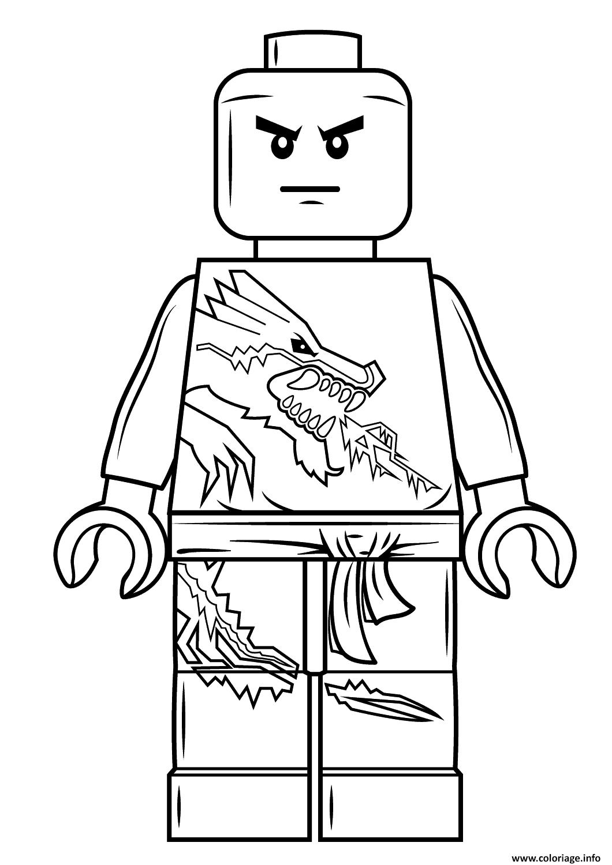 Dessin lego ninjago zane Coloriage Gratuit à Imprimer