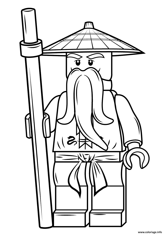 Coloriage lego ninjago sensei wu dessin - Dessiner un ninja ...