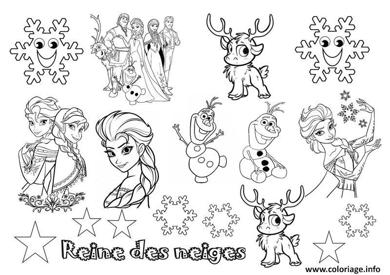 Coloriage disney noel reine des neiges 2 dessin - La reine des neiges dessin a colorier ...