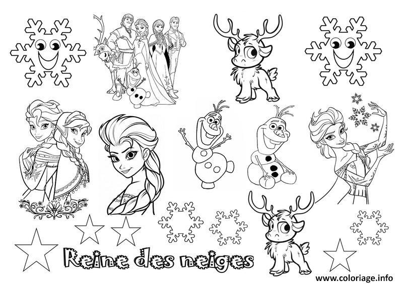 coloriage disney noel reine des neiges 2 dessin imprimer - Jeux En Ligne Reine Des Neiges