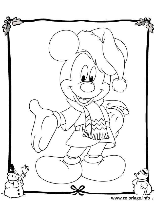 Coloriage Mickey Disney Noel 19 Jecolorie Com