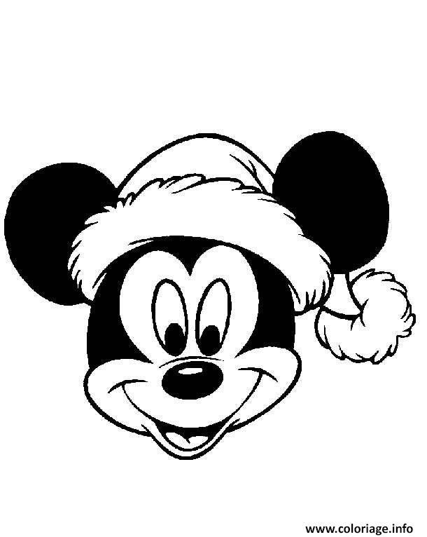 Coloriage Mickey Mouse Disney Noel 4 Dessin Noel Disney A Imprimer