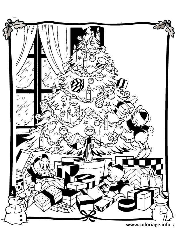 Coloriage Disney Noel Facile 29 Dessin