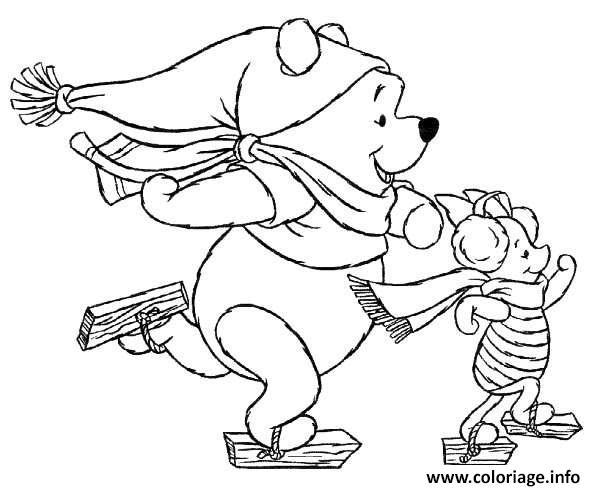 Coloriage Winnie The Pooh Disney Noel 1 Dessin