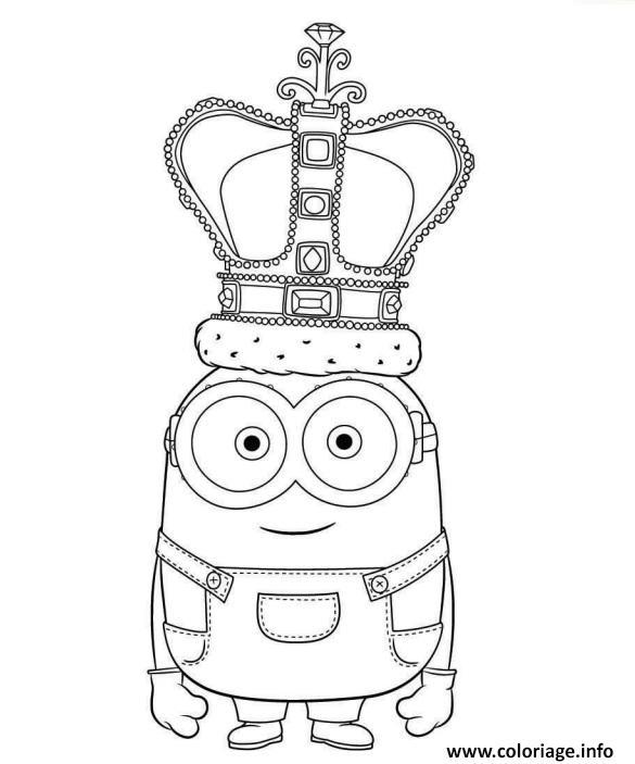 Coloriage Le Roi Minion Dessin Minions à imprimer
