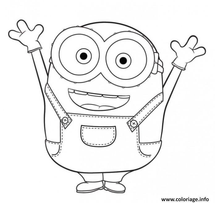 Coloriage le sourire deminion dessin - Dessin de bouche a imprimer ...