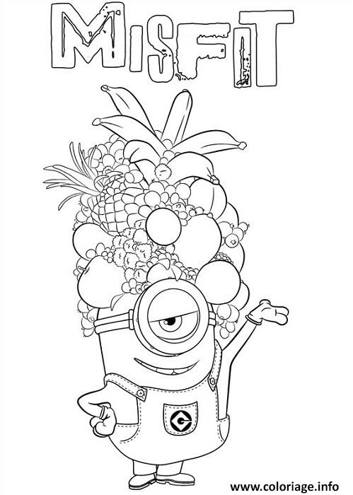 Coloriage minion de moi moche et mechant misfit dessin - Grand dessin a colorier ...