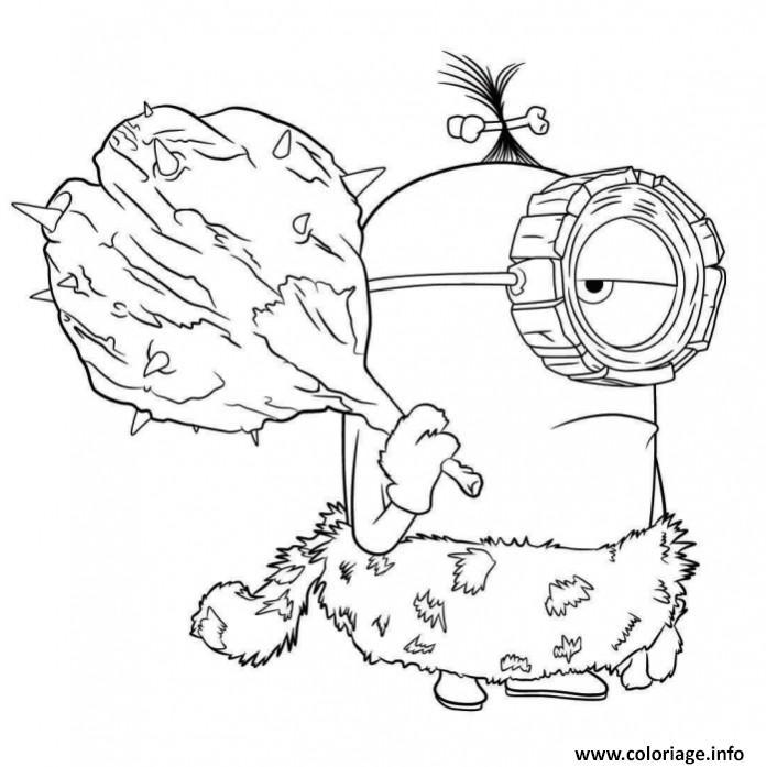 Coloriage minion prehistorique 2 dessin - Coloriage mignon a imprimer ...