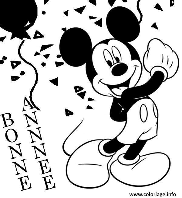 Dessin disney nouvel an 30 Coloriage Gratuit à Imprimer
